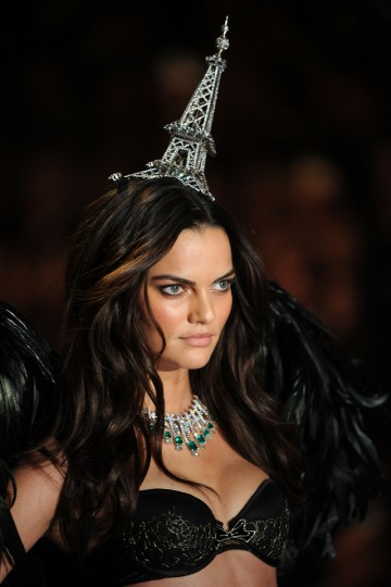 Model Barbara Fialho walks the runway at the 2013 Victoria's Secret Fashion Show at Lexington Avenue Armory on November 13, 2013 in New York City. (Photo by Bryan Bedder/Getty Images for Swarovski)
