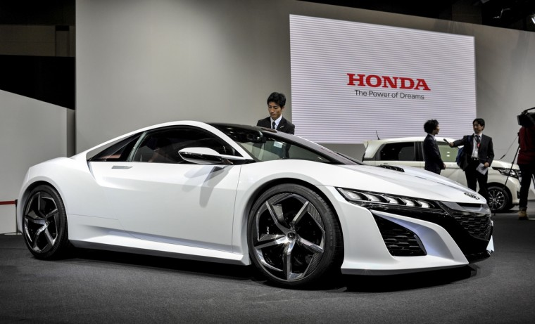 Honda Motor Co. NSX Concept sports vehicle is displayed during the 43rd Tokyo Motor Show 2013 at Tokyo Big Sight on November 20, 2013 in Tokyo, Japan. (Keith Tsuji/Getty Images)