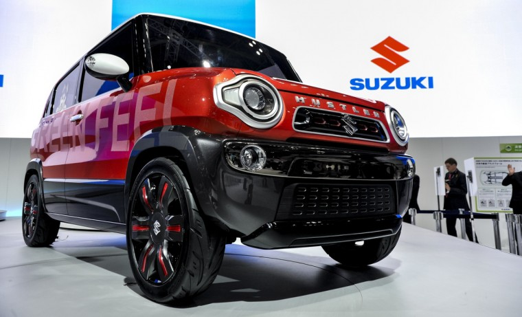 Suzuki Motor Corp. Hustler concept vehicle is on display during the 43rd Tokyo Motor Show 2013 at Tokyo Big Sight on November 20, 2013 in Tokyo, Japan. (Keith Tsuji/Getty Images)