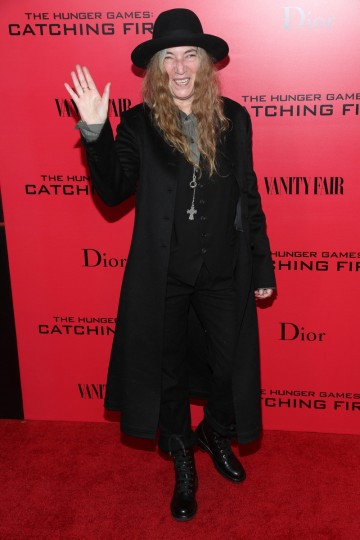 "Patti Smith attends a special screening of ""The Hunger Games: Catching Fire"" in New York City. (Rob Kim/Getty Images)"
