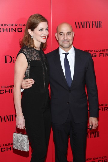 "Stanley Tucci (R) and Felicity Blunt attend a special screening of ""The Hunger Games: Catching Fire"" in New York City. (Rob Kim/Getty Images)"
