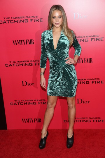 "Hannah Davis attends a special screening of ""The Hunger Games: Catching Fire"" in New York City. (Rob Kim/Getty Images)"