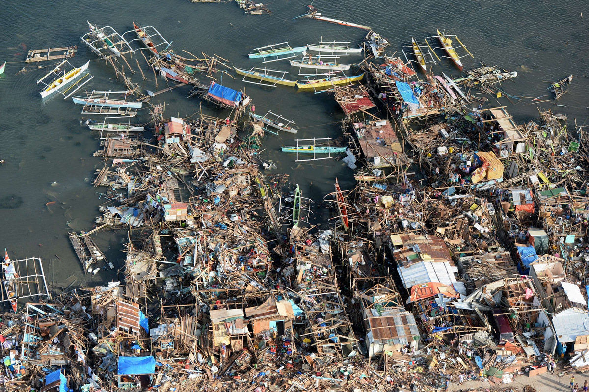 Aerial images of typhoon Haiyan's destruction