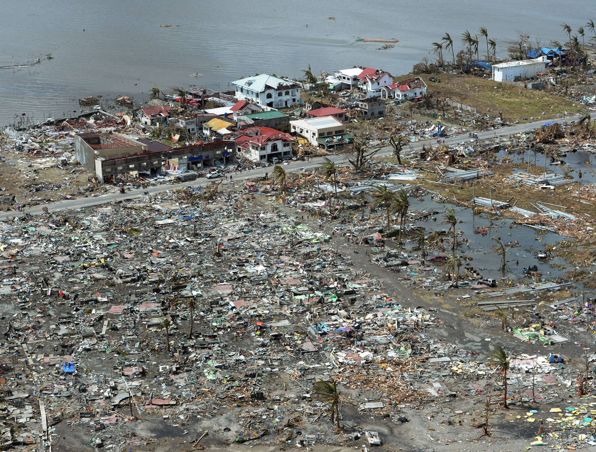 Aerial Images Of Typhoon Haiyans Destruction on After Typhoon Haiyan Devastated Central Philippines On November 8