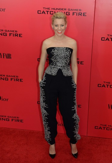 "Actress Elizabeth Banks arrives at a special screening of ""The Hunger Games: Catching Fire"" in New York. (Stan Honda/Getty Images)"