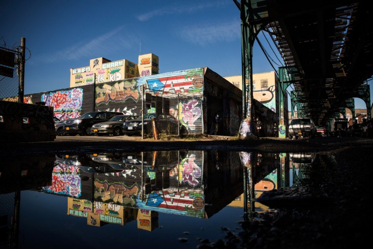 The 5 Pointz Building, a landmark in the New York graffiti scene that has attracted artists from around the globe, is seen on October 28, 2013 in the Long Island City neighborhood of the Queens borough of New York City.(Andrew Burton/Getty Images)