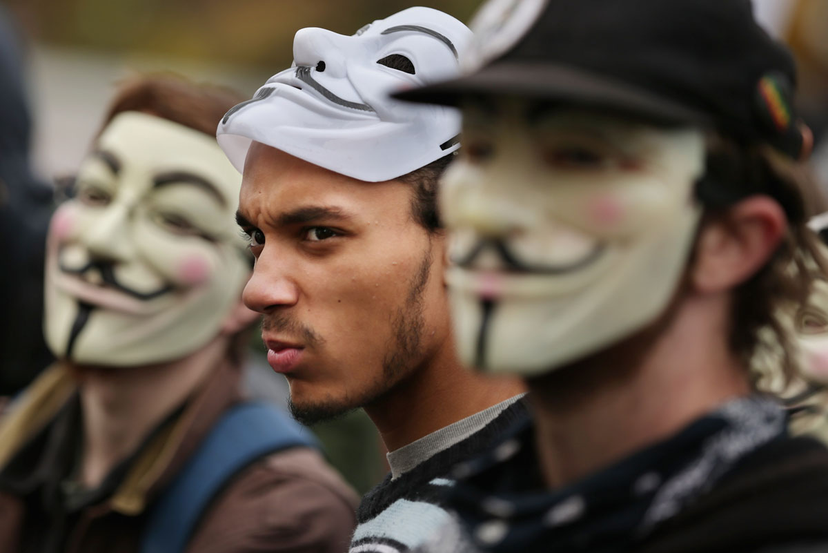 England's Guy Fawkes unlikely face of global protest
