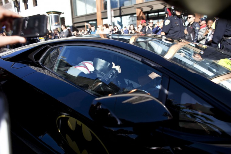 Five-year-old leukemia survivor Miles, also known as BatKid gives a thumbs up as he exits his cave at Union Square November 15, 2013 in San Francisco. Make-A-Wish Greater Bay Area foundation turned the city into Gotham City for Miles by creating a day long event bringing his wish to be a BatKid to life. (Ramin Talaie/Getty Images)