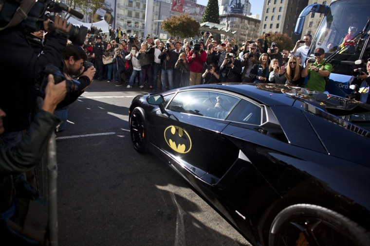 Five-year-old leukemia survivor Miles, also known as BatKid exits his cave at Union Square November 15, 2013 in San Francisco. Make-A-Wish Greater Bay Area foundation turned the city into Gotham City for Miles by creating a day long event bringing his wish to be a BatKid to life. (Ramin Talaie/Getty Images)