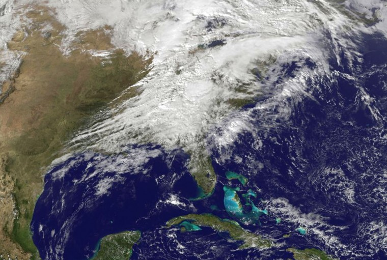This handout provided by NOAA shows severe weather as it moves through the Midwest. (Photo by NOAA via Getty Images)