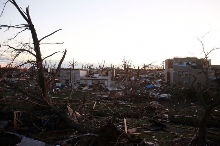 Debris covers the area after a tornado struck Washington, Ill. (Photo by Tasos Katopodis/Getty Images)