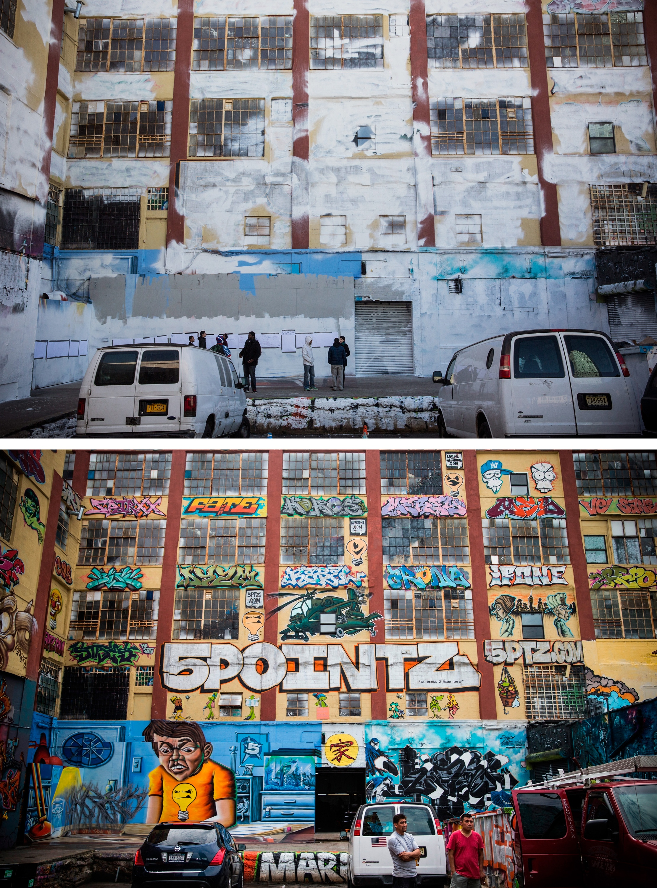 The Before Picture My Year Long Beard: 5 Pointz Repainted And Erased Overnight In Queens, New York