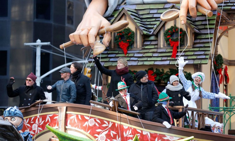 The Enchanting World of Lindt Chocolate Float featuring the Goo Goo Dolls in the 87th Annual Macy's Thanksgiving Day Parade on November 28, 2013 in New York City. (Photo by Jemal Countess/Getty Images for Lindt)
