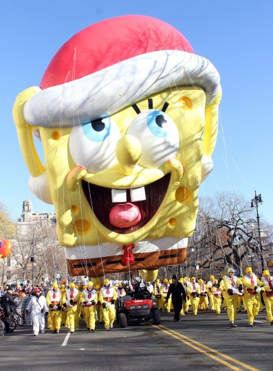Nickelodeon's SpongeBob SquarePants Kick Off The Holidays At 87th Annual Macy's Thanksgiving Day Parade on November 28, 2013 in New York City. (Photo by Laura Cavanaugh/Getty Images for Nickelodeon)