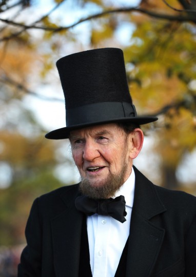 James Getty, portraying the 16th president of the US Abraham Lincoln,poses before he recites the Gettysburg Address during the commemoration of the 150th anniversary Lincolns historic Gettysburg Address on November 19, 2013 at Gettysburg National Military Park in Gettysburg, Pennsylvania. (Mandel Ngan/AFP/Getty Images)