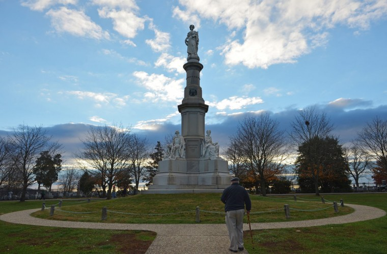 Soldier's National Monument is seen on the 150th anniversary of US President Abraham Lincolns historic Gettysburg Address on November 19, 2013 at Gettysburg National Military Park in Gettysburg, Pennsylvania. (Mandel Ngan/AFP/Getty Images)
