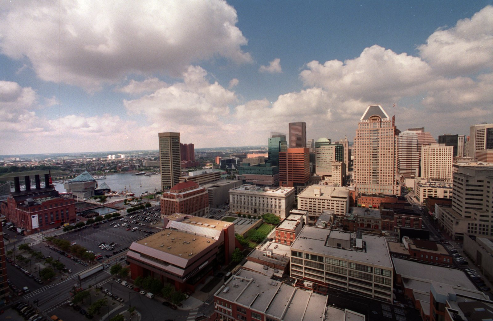 Baltimore Skyline Glows With Early Sunsets