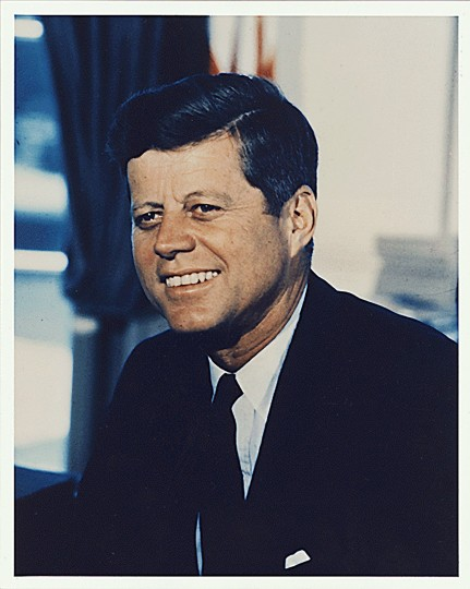President Kennedy is pronounced dead at Parkland Memorial Hospital in Dallas at 1:00 p.m. News of the president's death breaks 37 minutes later. The 35th President of the United States was 46 years old. (Office of the Naval Aide to the President/National Archives/MCT)