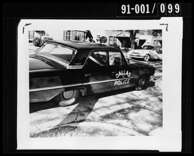 At 1:40 p.m., Oswald encounters and shoots Dallas patrolman J.D. Tippit on a Dallas residential street. Tippit had identified Oswald as the suspect the police were looking for in connect with the Kennedy shooting. (Dallas Police Department/Dallas Municipal Archives/MCT)