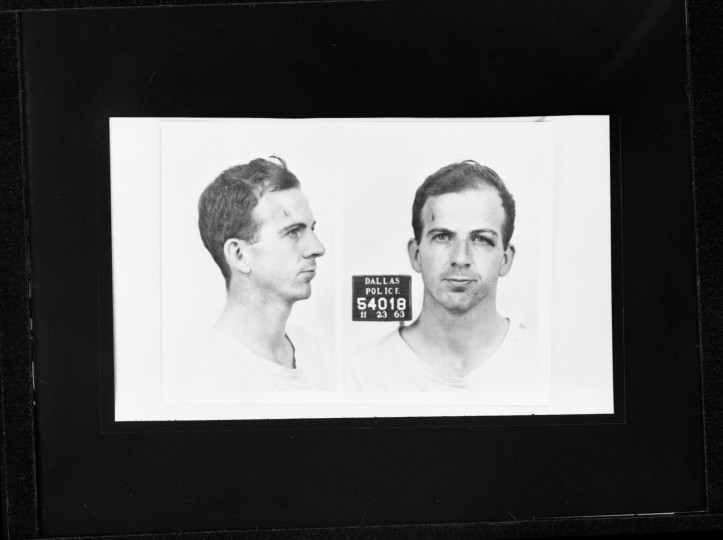 Oswald is charged with the murder of President Kennedy at 11:26 p.m. (CST). (Dallas Police Department/Dallas Municipal Archives/MCT)
