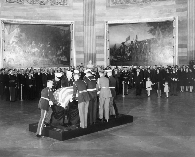 President Kennedy's body is placed in the Capitol Rotunda in Washington, D.C. (John F. Kennedy Presidential Library and Museum/MCT)
