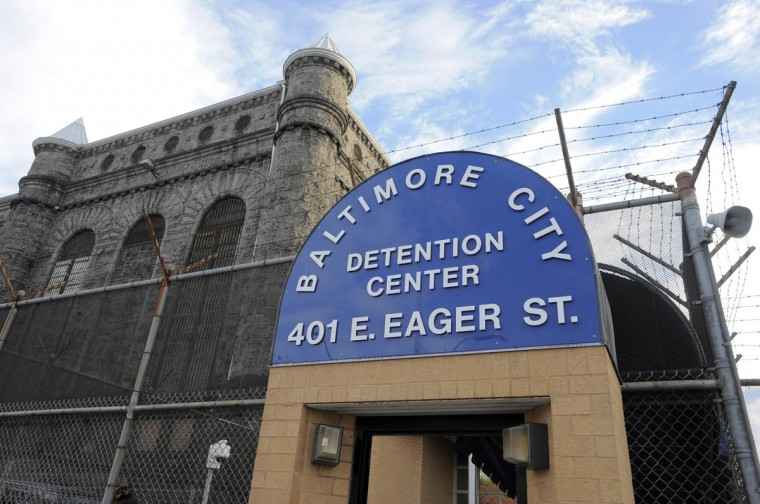 This is an entrance to the Baltimore City Detention Center. (Lloyd Fox/Baltimore Sun)