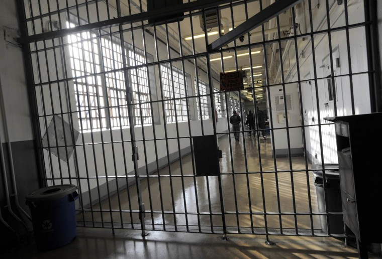 This is inside the Baltimore City Detention Center. (Lloyd Fox/Baltimore Sun)