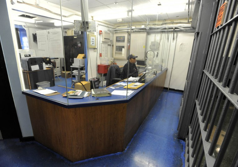 An officer works inside the Baltimore City Detention Center. (Lloyd Fox/Baltimore Sun)