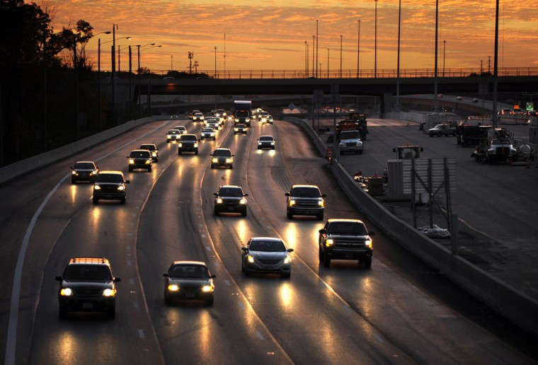 Interstate 95 is pictured from King Ave. overpass in the Rossville area of Baltimore. Next week will be the 50th anniversary of the highway. (Algerina Perna/Baltimore Sun)