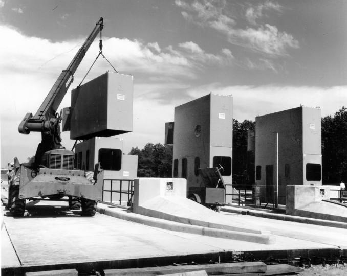 The Susquehanna toll plaza nears completion in 1963. (Baltimore Sun)