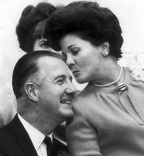 11/8/1966 - Judy Agnew was happy but calm following her husband's victory in the gubernatorial election. The attractive wife of Maryland's Governor-elect said she is looking forward to her new duties. She has never been in the Governor's Mansion. (Weyman D. Swagger/Baltimore Sun)