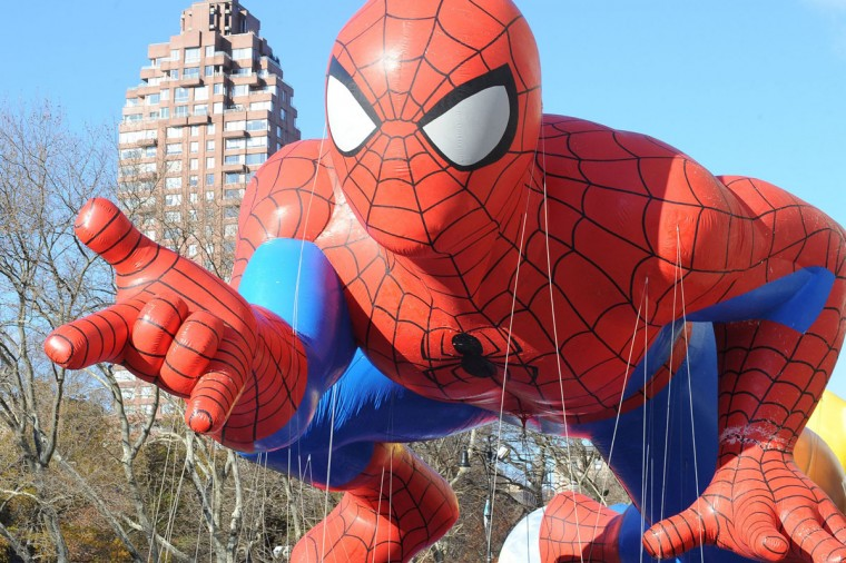 Spiderman makes an appearance during the Macy's Thanksgiving Day Parade in New York on Thursday, Nov., 28, 2013. (Kristin Callahan/Ace Pictures via Zuma Press/MCT)
