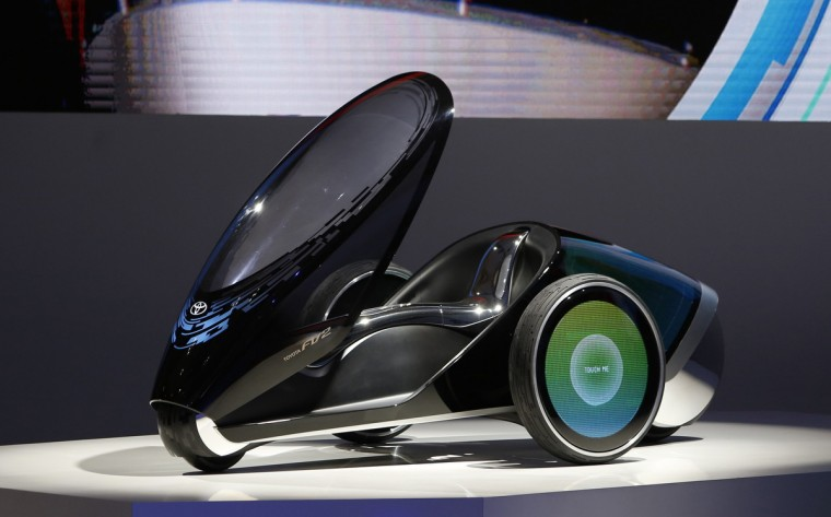 Toyota Motor Corp's Toyota FV2 concept car is seen at the 43rd Tokyo Motor Show 2013, November 20, 2013. Fourteen Japanese and 18 overseas carmakers and motorbike manufacturers are participating in the Tokyo Motor Show, which kicked off on Wednesday for the media. (Yuya Shino/Reuters)