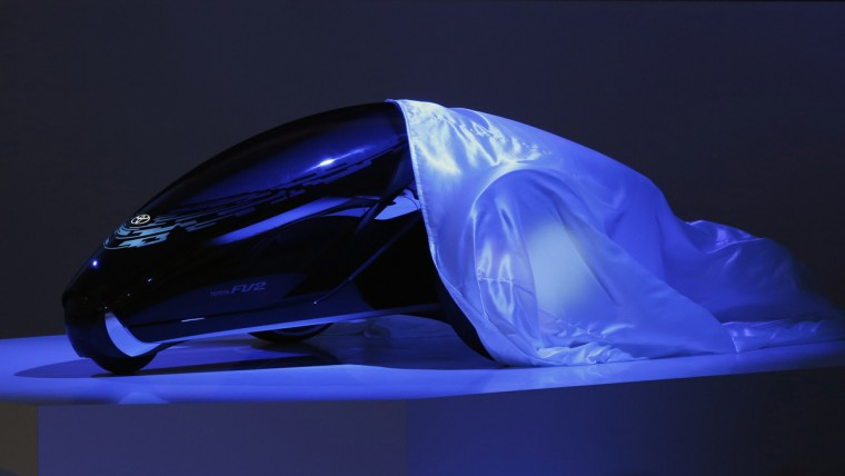 Toyota Motor Corp's concept car Toyota FV2 is seen as it is revealed at the 43rd Tokyo Motor Show, November 20, 2013. (Yuya Shino/Reuters)