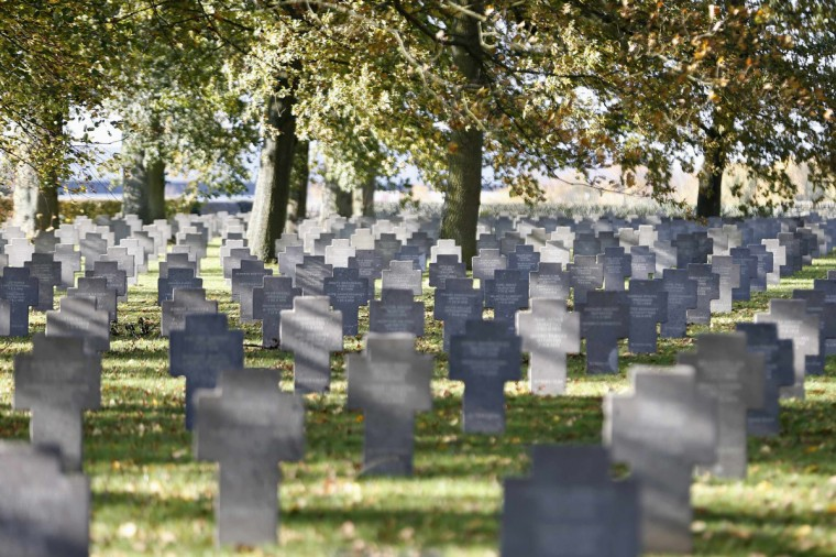 General view of the German cemetery of Roye St Gilles during the World War One remembrance day in northern France, November 11, 2013. The year 2014 will mark the centennial commemoration for the soldiers who fought in the First World War. (Charles Platiau/Reuters)