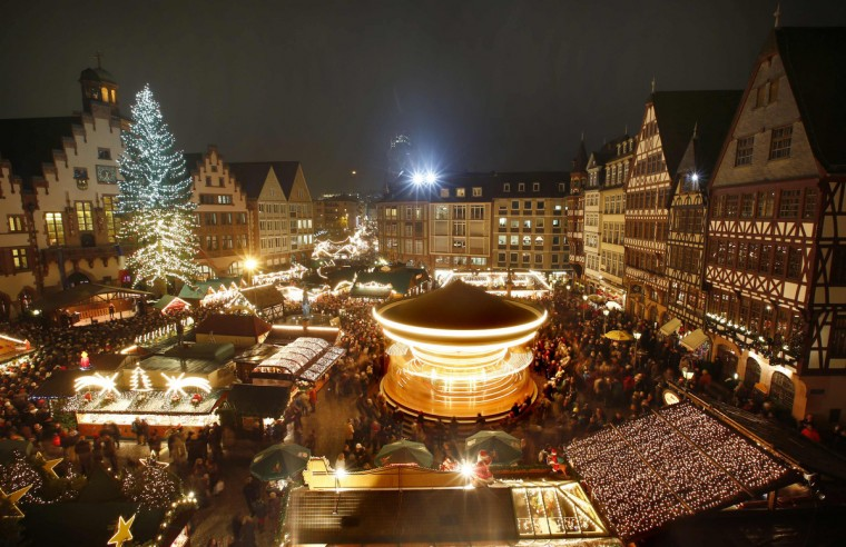 General view of the Christmas market after its official opening in Frankfurt. (Kai Pfaffenbach/Reuters)