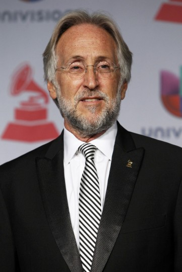 President and CEO of the Recording Academy Neil Portnow poses backstage during the 14th Latin Grammy Awards in Las Vegas. (REUTERS/Steve Marcus)