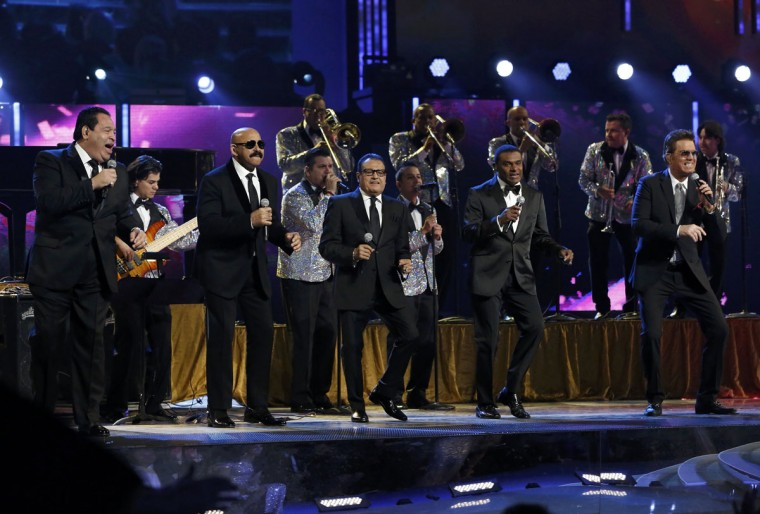 "The Salsa Giants perform ""Para Celebrar during the 14th Latin Grammy Awards in Las Vegas. (REUTERS/Mario Anzuoni)"