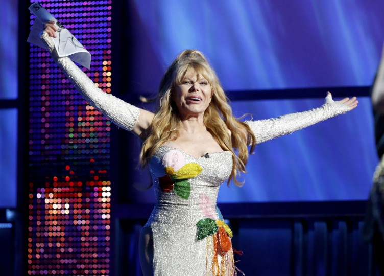 Entertainer Charo appears onstage during the 14th Latin Grammy Awards in Las Vegas. (REUTERS/Mario Anzuoni)
