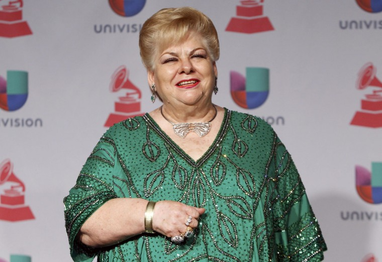 Paquita La Del Barrio poses backstage during the 14th Latin Grammy Awards in Las Vegas. (REUTERS/Steve Marcus)