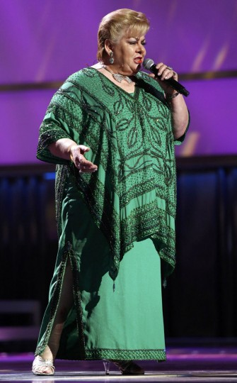 "Paquita la del Barrio performs ""Romeo Y Su Nieta"" during the 14th Latin Grammy Awards in Las Vegas. (REUTERS/Mario Anzuoni)"