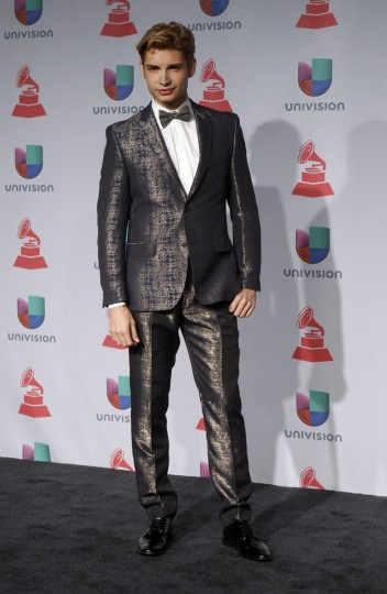 Christian Acosta poses backstage during the 14th Latin Grammy Awards in Las Vegas. (REUTERS/Steve Marcus)