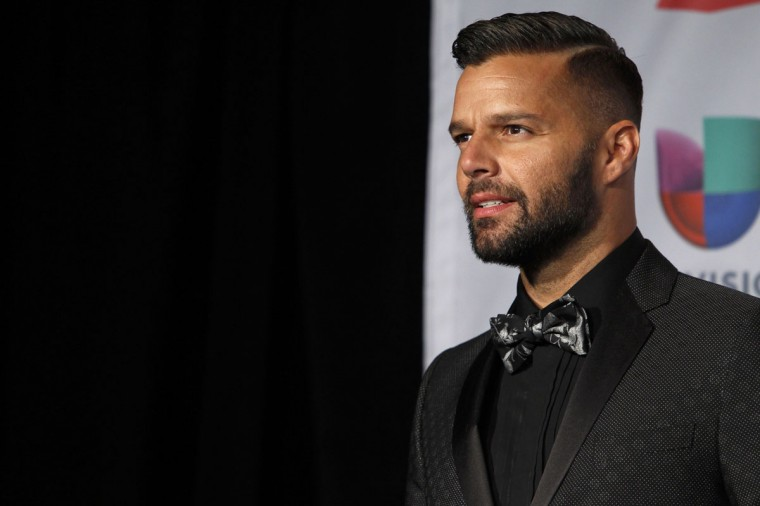 Singer Ricky Martin poses backstage during the 14th Latin Grammy Awards in Las Vegas. (REUTERS/Steve Marcus)