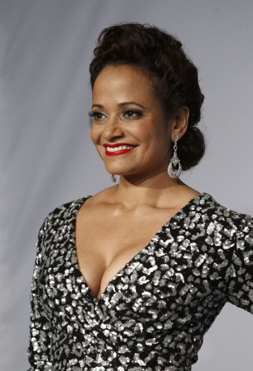 Actress Judy Reyes poses backstage during the 14th Latin Grammy Awards in Las Vegas. (REUTERS/Steve Marcus)