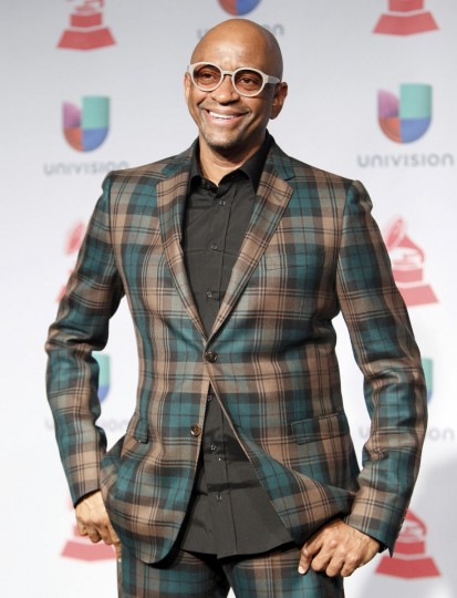 Sergio George poses backstage during the 14th Latin Grammy Awards in Las Vegas. (REUTERS/Steve Marcus)