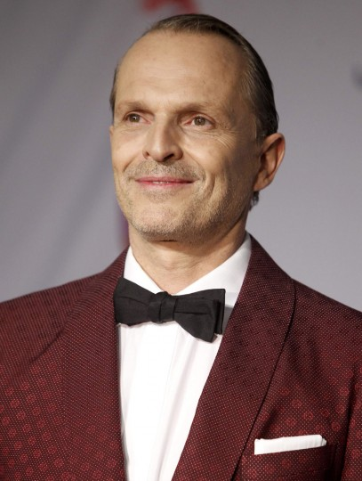 Musician Miguel Bose poses backstage during the 14th Latin Grammy Awards in Las Vegas. (REUTERS/Steve Marcus)