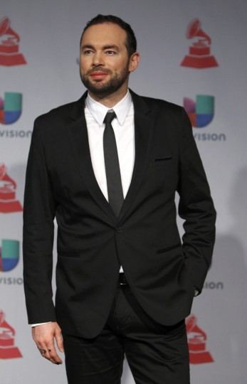 Colombian singer Santiago Cruz poses backstage during the 14th Latin Grammy Awards in Las Vegas. (REUTERS/Steve Marcus)