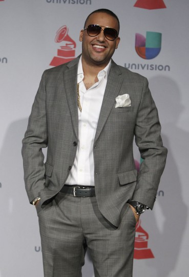 Dominican rapper El Cata poses backstage during the 14th Latin Grammy Awards in Las Vegas. (REUTERS/Steve Marcus)
