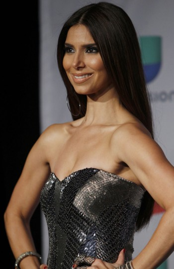 Puerto Rican singer Roselyn Sanchez poses backstage during the 14th Latin Grammy Awards in Las Vegas. (REUTERS/Steve Marcus)