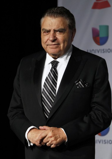 TV personality Don Francisco poses backstage during the 14th Latin Grammy Awards in Las Vegas. (REUTERS/Steve Marcus)